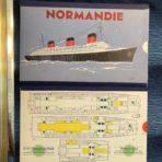 "French Line: Normandie ""Slide Rule"" First Class Deck Plan"