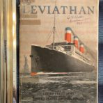 "United States Lines: SS Leviathan ""builders book"" Quarter master CF Dutton"