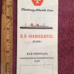 Hamburg Atlantik Line: SS Hanseatic White Deck Plan