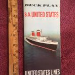USL: SS United States Ultimate Deck Plan .. covers all classes