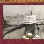 Cunard Line: QE2 work Keystone Press 3-28-69