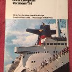 French Line: Great European Vacations 1974