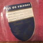 French Line: Ile De France 2 used Baggage Tags