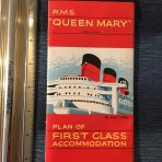 Cunard Line: Queen Mary Tabbed First Class Plans