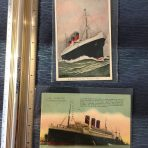 French Line: 2 SS Paris Postcards
