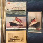 Cunard Lines: 4 SS Mauretania Profile Postcards