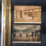 Cunard Lines: 2 Aquitania Interior Postcards