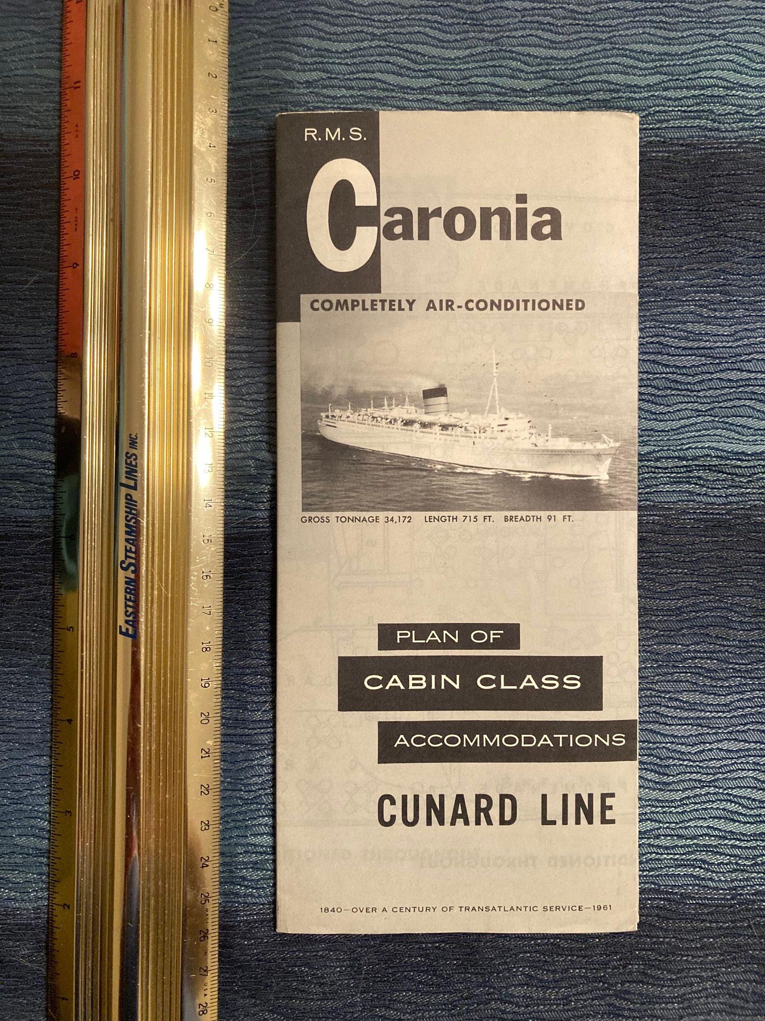 Cunard Line:  Caronia Cabin Class Deck Plan