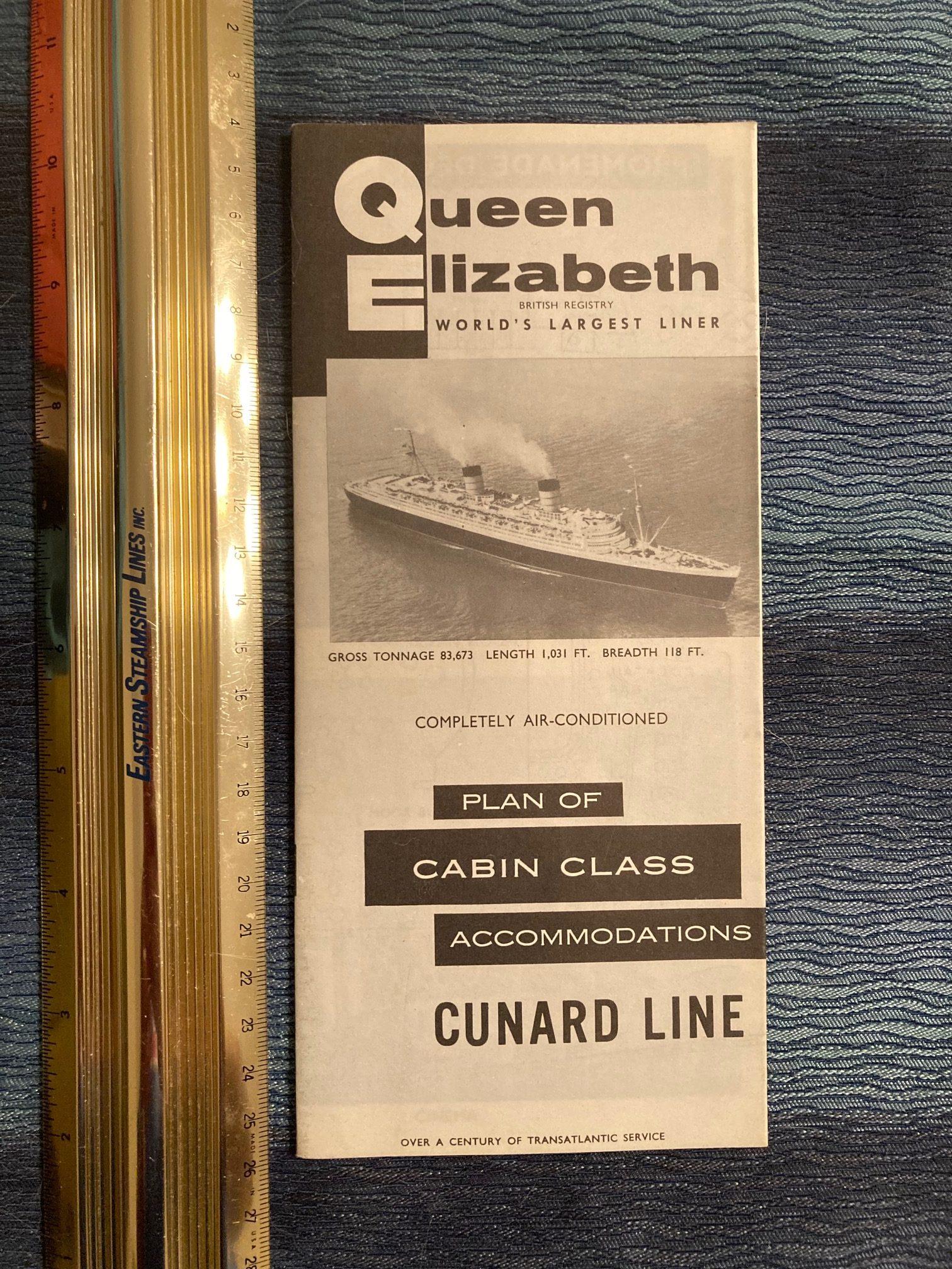 Cunard Line:  QE Cabin Class Deck Plan