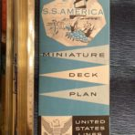United States Lines: SS America Miniature deck plans blue