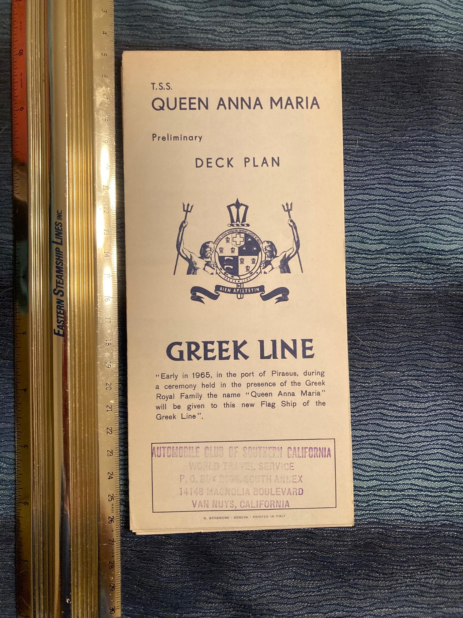 Greek Line: Queen Anna Maria Deck Plan