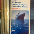 French Line : SS France Glossy Deck Plan