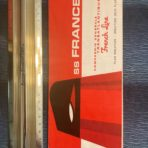 French Line : SS France Miniature Red Funnel Deck Plan