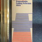 French Line : SS France Transatlantic sailing schedule 1974