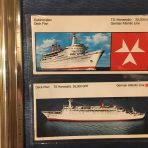 German Atlantic Line: Hanseatic Set of 2 Deck plans SALE $