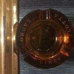 Lauro Lines: Heavy Amber Glass Ashtray