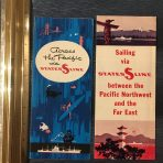States Line: Across the Pacific and Sailing Flyers