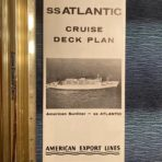 American Export: SS Atlantic Cruise Deck Plans 62/63