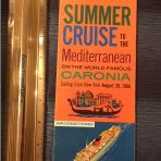 Cunard Line: Caronia Summer Cruise 1966 Folder