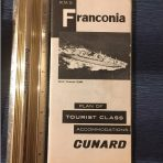 Cunard: Franconia Tourist Deck Plans July 1963