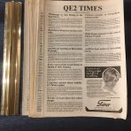 Cunard: 9 issues of QE2 Times Onboard Newspaper