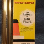 Union Castle:  Fares and Sailings 1964