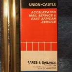Union Castle:  Fares and Sailings 1965