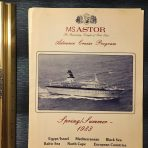 Astor United Cruises: Astor Cruise Program Spring Summer 1983