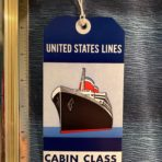 USL: SS United States CC Blue Baggage Tag