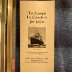 "USSB: Ss Leviathan ""To Europe in Comfort"" for $92.50"