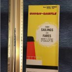 Union Castle: Sailings and Fares 1964