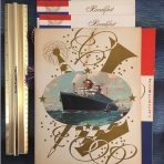 Unites States Lines: SS America menu set 1957.