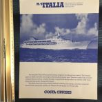 Costa Cruises: MS Italia Deck Plan cut sheet
