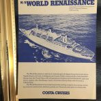 Costa Cruises: MS World Renaissance Deck Plan Cut Sheet