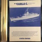 Costa Cruises: MS Carla C Deck Plan Cut Sheet