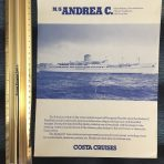 Costa Cruises: MS Andrea Deck Plan cut sheet