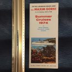 Baltic Shipping Company/Wall Street Cruises: MS Maxim Gorki Brochure Deck Plan.