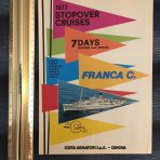 Costa Line: 1977 Stopover Cruises Large Foldout for Franca C