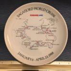 Cunard/ NAL: Sagafjord Cruise Plate 1988