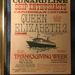 Cunard : QE2 flyer and memo for the Ship Enthusiasts Cruise 1977