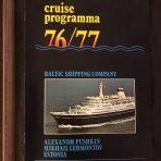 Baltic Shipping: 76/77 Cruise Program
