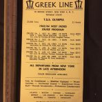 Greek Line: TSS Olympia 63/64 West Indies Cruise Program Card