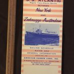 American Banner Lines: SS Atlantic 1959 Sailing Schedule and Rates