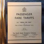 Pacific Steam: Renia Del Mar Fare Tariffs