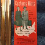 SAL: US Customs hints  brochure flyer. Pre Dec 1953