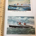 United States Lines: SS United States 2 Postcards
