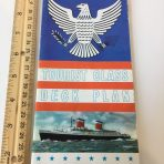 United States Lines: SS United States Color Tourist Class Deck Plans