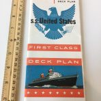 United States Lines: SS United States Color First Class Deck Plans March 1957