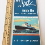 "United States Lines: SS United States Color Glossy ""Let's Look Inside"""