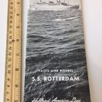 HAL: The New Flagship Rotterdam Facts and Figure Booklet Pre Maiden Voyage